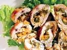Рецепта Пилешко руло с кайсии и кашкавал на фурна